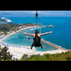 Ziplining @ Labadee peninsula, Haiti. Accessible only via Royal Caribbean Cruises (land is rented for cruise passengers only)