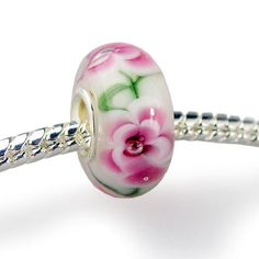 Silver Plated European Lampwork Murano Glass Bead Charm