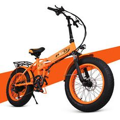 ENGWE Fat Tire Folding Electric Bike Beach Snow Bicycle ebike Electric Moped Electric Mountain Bicycles (Orange) - A very good product for a fair price Cheap Electric Bike, Electric Bike Review, Electric Bikes For Sale, Electric Moped, Folding Electric Bike, Electric Mountain Bike, Mountain Bicycle, Pride, Bicycles
