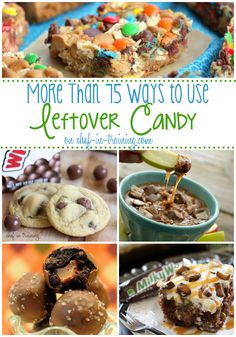 75+ Recipes to use Leftover Halloween Candy on chef-in-training.com ...A MUST SEE list!