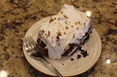 No Bake Chocolate Fluff...I'm not particularly an Oreo person and had never had an Oreo crust...all I will say is OH, MY!!!