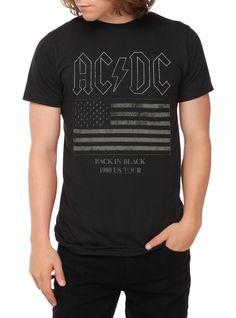 AC/DC Back In Black '80 US Tour T-Shirt   Hot Topic
