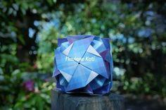 Origami modular BRISA  12 módulos  Autora: Flaviane Koti  Desenvolvido em janeiro de 2013
