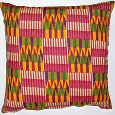 African  wax print pillow covers -