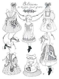 paper dolls to cut out and color | Print these black & white versions, get out your watercolors, and try ...