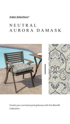 Plush BlowFill 20 x 20 in. Tan Aurora Damask Square Outdoor Seat Cushion Bar Stool Chairs, Bistro Chairs, Patio Chairs, Patio Furniture Cushions, Outdoor Chair Cushions, Patio Dining, Outdoor Dining, Comfortable Outdoor Chairs, High Back Chairs