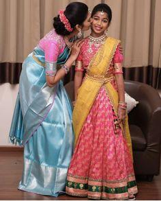 Kids Blouse Designs, Simple Blouse Designs, Bridal Blouse Designs, Half Saree Designs, Pattu Saree Blouse Designs, Lehenga Designs, Kids Saree, Kids Lehenga, South Fashion