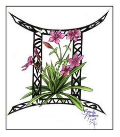 gemini tattoo design