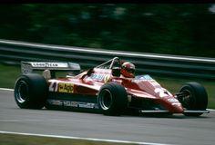 The last ride …Gilles Villeneuve, Ferrari 126C2, 1982 Belgian Grand Prix, Zolder. Gilles driving towards the Terlaemenbocht, which would later be called the Villeneuve chicane...