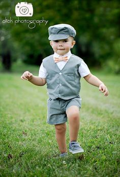 eaee08bf88 Gray Baby Boy or Toddler suit. Gray summer by CuppyCakeClothing Wedding  Outfit For Boys