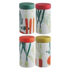 HELGA Set of 4 spice jars