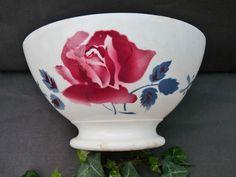 Bol ancien bowl Janine Digoin Sarreguemines  BOLW Perfect 1950 ,14X7,5cm haut