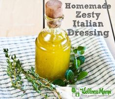 Zesty Italian Dressing Recipe This delicious Italian Dressing combines all natural flavors from olive oil, dijon mustard, wine vinegar and herbs for a versatile condiment. Zesty Italian Dressing Recipe, Homemade Dressing, Salad Dressing Recipes, Salad Recipes, Italian Salad, Real Food Recipes, Cooking Recipes, Healthy Recipes, Sauces
