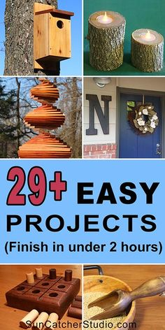 woodworking projects for kids 29 Easy DIY Projects. Complete in under 2 hours! These beginner woodworking projects make create handmade gifts. - Check out these free, easy woodworking projects that can be completed by the DIY beginner in one or two hours. Kids Woodworking Projects, Wood Projects For Beginners, Wood Working For Beginners, Diy Wood Projects, Easy Projects, Woodworking Crafts, Woodworking Plans, Woodworking Classes, Woodworking Magazine