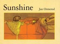Sunshine by Jan Ormerod tells a wordless story of a little girl and her families day. | The Little Big Book Club has suggested associated books including The Wrong Book by Nick Bland ( Scholastic) and activity time sheets.