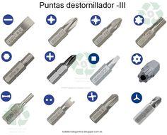 Tecnología -E.S.O. y Tecnología Industrial -Bachillerato: Herramientas de unión. Puntas de destornillador