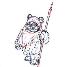 how to draw an ewok step 6