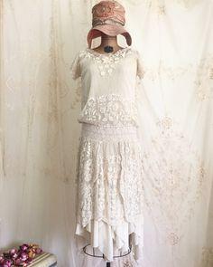 années 1920 dentelle robe Flapper / clapet par LacyDressesVintage
