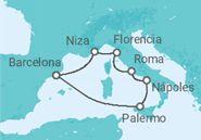 Itinerario del Crucero Brisas del Mediterráneo  - Pullmantur