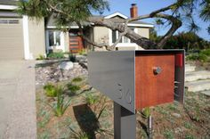 Hey, I found this really awesome Etsy listing at https://www.etsy.com/listing/204302909/large-modern-mailbox-front-back-access