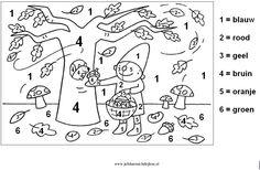 Herfst Pompom Cijfers