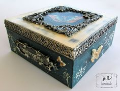 julD handmade Memories Box, Decoupage, Mixed Media, Decorative Boxes, Miniatures, Wall Decor, Clay, Ceramics, Artwork