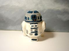 R2 D2 Handmade Star Wars character needle felting wool soft doll sculpture ooak #Unbranded