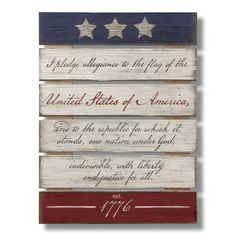 Home Wooden Signs, Wood Pallet Signs, Diy Wood Signs, Americana Crafts, Patriotic Crafts, Rustic Americana Decor, July Crafts, Patriotic Room, Summer Crafts