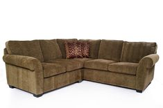 Traditional Brown Sectional L Shaped Sofa Design Ideas for Living Room Furniture with Low Style Black Wood Legs and Comfortable Seat Cushions complete with the Armside also Beautiful Pattern Pillows