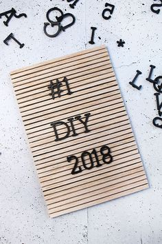 DY Letterboard aus Holz von Gingered Things