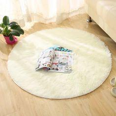 Fuzzy Circle Rug