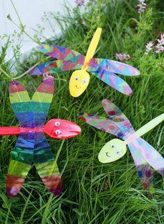 Plastic Spoon Dragonflies