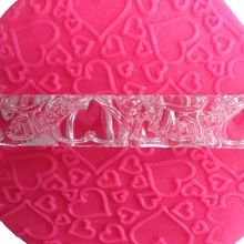 Forma amor transparente Embossing rolamento pinos ferramentas artesanais açúcar Fondant bolo decoração - A154(China (Mainland))