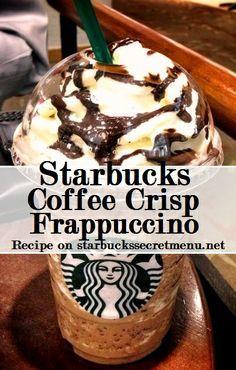 Starbucks Secret Menu Coffee Crisp Frappuccino! Recipe here: http://starbuckssecretmenu.net/starbucks-secret-menu-coffee-crisp-frappuccino/