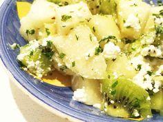 梨とキウイのミントカッテージチーズサラダの画像