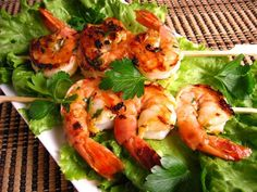 ORANGE CHIPOTLE MARINATED SHRIMP:  Recipe Courtesy of Kevin Lynch. ~  These were super simple to make, just marinate the prawns and grill/fry for a few minutes. They were really tasty!