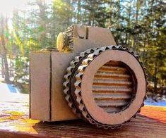 Cardboard Camera : 9 Steps (with Pictures) - Instructables Cardboard Camera, Paper Camera, Cardboard Crafts, Paper Crafts, Homecoming Floats, Cardboard Sculpture, Bob The Builder, Old Boxes, Photography Contests