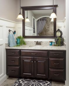 Dark Wood Bathroom Vanity Part 23