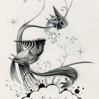 surreal, happy and sweet sketches