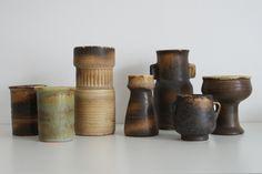 Lore Ceramics Beesel The Netherlands 1976-1981 Matt Camps assortment
