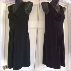Ann Taylor Black Dress Size S Sleeveless Midi dress.  Size S.  Loose fit dress. V neck. Ann Taylor Dresses Midi