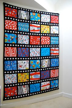 Film strip or Comic strip quilt