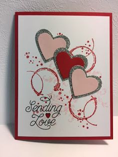 My Creative Corner!: Designer Tin of Cards,Timeless Textures, Valentine& Day Card valentinesdaycardshandmade Valentines Day Cards Handmade, Easy Valentine Crafts, Love Valentines, Valentines Bricolage, Art Carte, Beautiful Handmade Cards, Dose, Paper Cards, Kids Cards