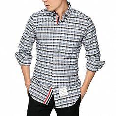 (トム ブラウン) THOM BROWNE 15AW 隠し3ラインクラシックチェックシャツ MWL010E 001... http://www.amazon.co.jp/dp/B01G8II2QQ/ref=cm_sw_r_pi_dp_nibwxb16XXW17