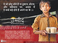 Say no to human trafficking and child labor.