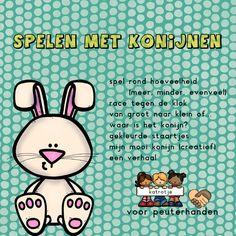 mini thema spelen met konijnen van katrotje speciaal voor peuterhanden  Leuk voor in de kleuterklas of thuis