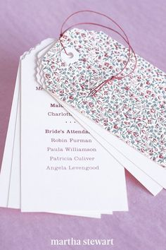 For a couple that travels, a booklet resembling a bundle of luggage tags is an inspired choice. #weddingideas #wedding #marthstewartwedding #weddingplanning #weddingchecklist Diy Wedding Programs, Ceremony Programs, Felt Pouch, Glassine Envelopes, Letter To Yourself, Ombre Effect, Letter Size Paper, Custom Stamps, Wedding Stationery