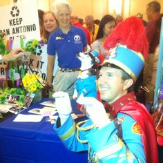King Antonio, Tom Green, Fiesta San Antonio 2012 with Canine King Antonio