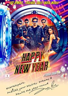 Happy New Year - 2014 Bollywood Music Audio CD / Shahrukh Khan / Deepika Padukone Check Image 2 For Songs Details Happy New Year Film, Happy New Year 2014, Srk Movies, Hindi Movies, Happy New Year Bollywood, Indiana, Best Bollywood Movies, Bollywood News, Bollywood Posters