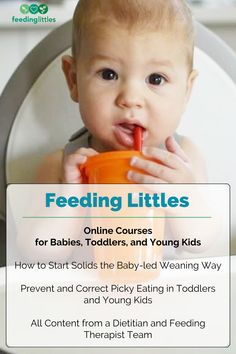 Self-paced courses covering starting solids the baby-led weaning way with baby at 6 months. Check out our toddler course to prevent and correct picky eating in toddlers and young kids. #feedinglittles #courses #baby #toddler Starting Solids, 10 Month Olds, 6 Month Baby, Baby Led Weaning, Medical Advice, Dietitian, Baby Feeding, Little Babies, Online Courses
